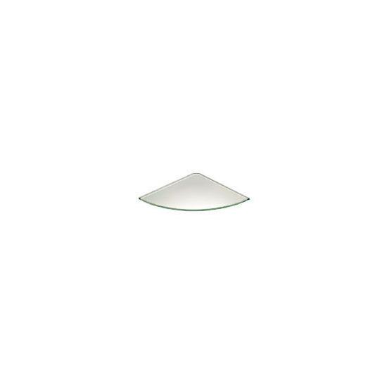 Glass Corner Shelf 250 X 250mm Frosted