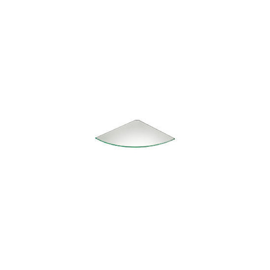 Glass Corner Shelf 300 X 300mm Frosted