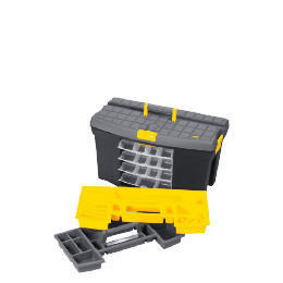 "Stanley 24"" Mega Toolbox + 4 Swivel Bins + Cable & Level Holders Reviews"