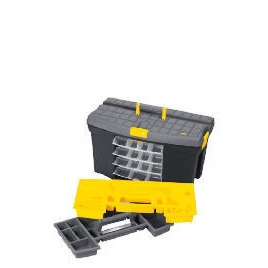 """Stanley 24"""" Mega Toolbox + 4 Swivel Bins + Cable & Level Holders Reviews"""