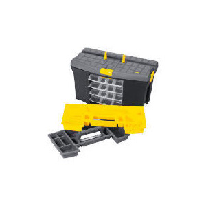 "Photo of Stanley 24"" Mega Toolbox + 4 Swivel Bins + Cable & Level Holders Tool"