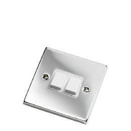 GET Polished Chrome 2 Gang 2 Way 6Ax Lightswitch Reviews