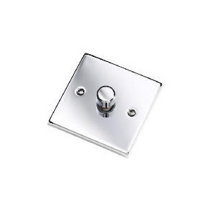 Photo of Polished Chrome 1 Gang 2 Way 60 - 400W Dimmer Lighting