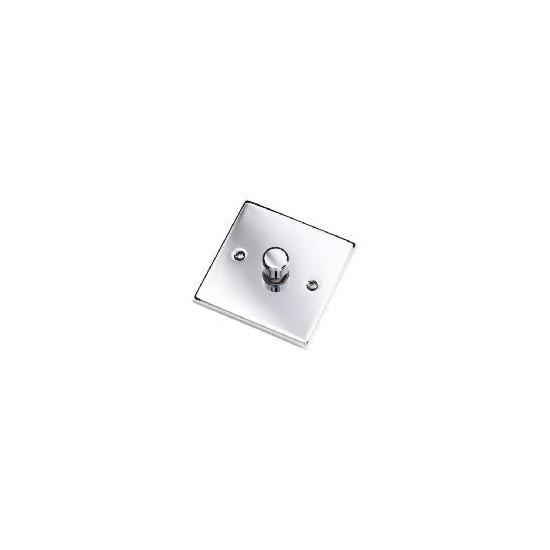 Polished Chrome 1 Gang 2 Way 60 - 400W Dimmer