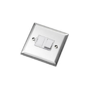 Photo of Bevelled Edge Stainless Steel 13A Switched Fused Connection Unit Home Miscellaneou