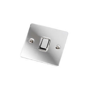 Photo of Flatplate Polished Chrome 1 Gang 2 Way 10AX Lightswitch Home Miscellaneou