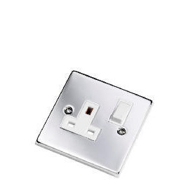 Polished Chrome 1 Gang 13A Switched Socket Reviews
