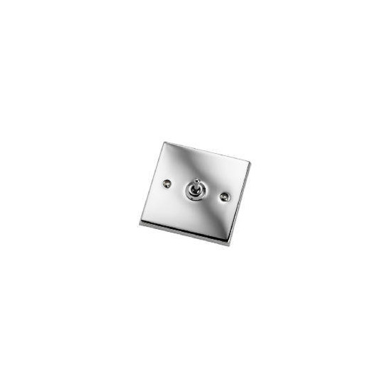Polished Chrome 1 Gang 2 Way Toggle Switch