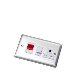 Bevelled Edge Stainless Steel 45A Cooker Control Unit Dp Switch Reviews