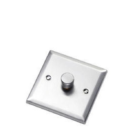 Bevelled Edge Stainless Steel 1 Gang 2 Way 60 - 400W Dimmer Reviews