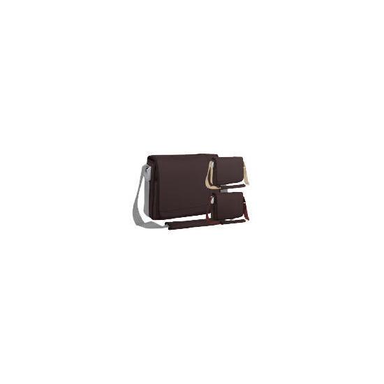 """Targus 15.4"""" Chocolate Messenger Laptop Bag"""