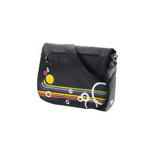 "Photo of Celly 15.4"" Rainbow Black Laptop Bag Laptop Bag"