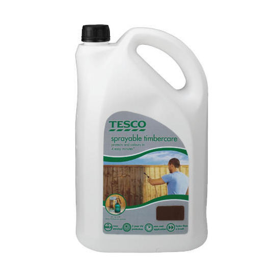 Tesco Sprayable Woodland Brown 5L