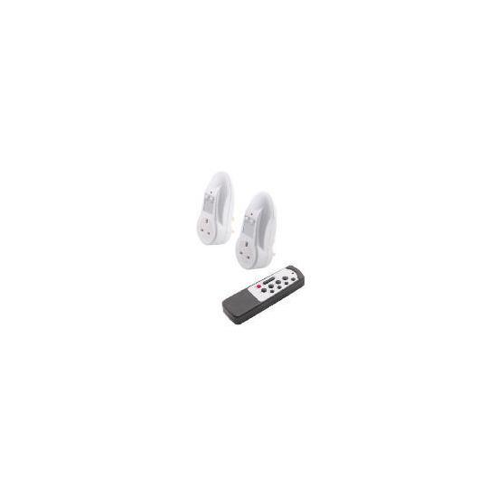 Tesco Energy Saving Remote Control Sockets 2Pk
