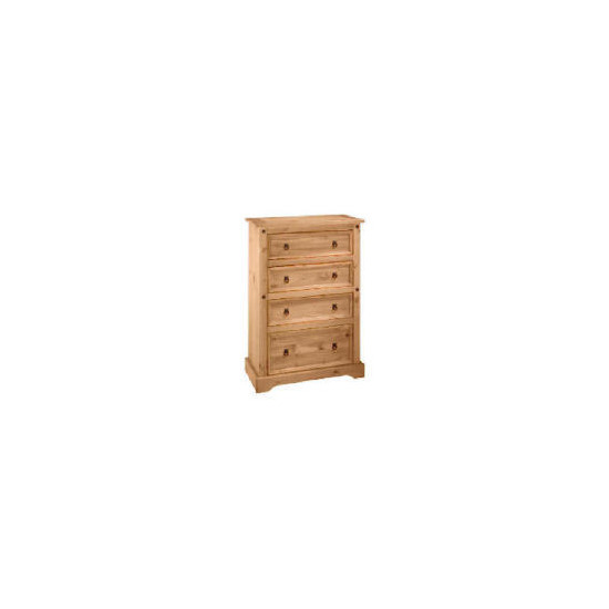 Honduras 4 drawer Chest, Antique Pine