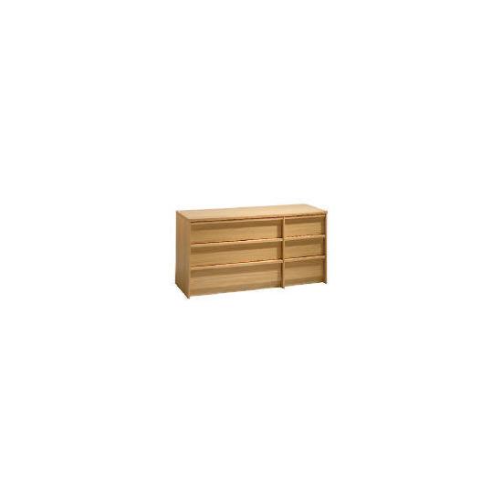 Santona 3 + 3 drawer Chest, Oak effect