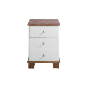 Photo of Apsley Bedside Chest, White Painted and Pine Furniture