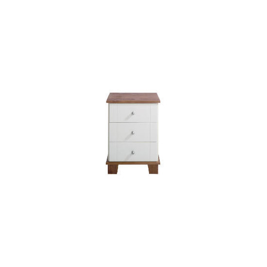 Apsley Bedside Chest, White Painted and Pine