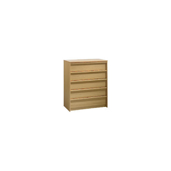 Santona 5 drawer Chest, Oak effect