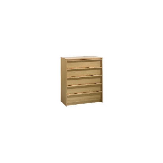 Santona 5 drawer Chest, Oak effect