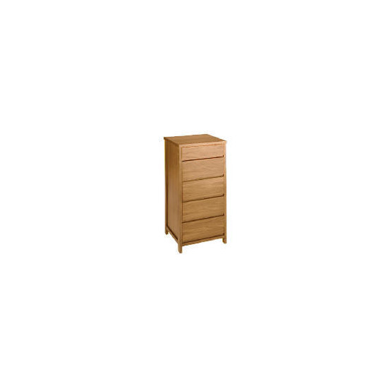 Monzora 5 drawer chest, Oak