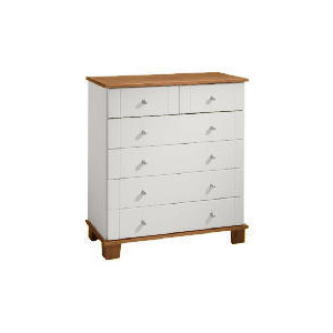 Photo of Apsley 4 + 2 Drawer Chest, White Painted and Pine Furniture