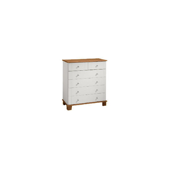 Apsley 4 + 2 drawer Chest, White Painted and Pine