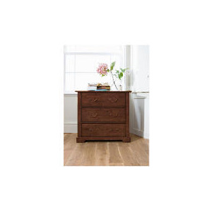 Photo of Finest Malabar 3 Drawer Chest, Dark Stain Furniture