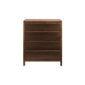 Photo of Hanoi 4 Drawer Chest, Walnut Effect Furniture
