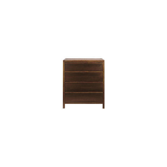 Hanoi 4 drawer Chest, Walnut effect