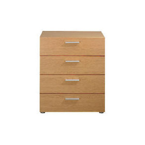 Photo of Havana 4 Drawer Chest, Oak Effect Furniture