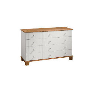 Photo of Apsley 4 + 4 Drawer Chest, White Painted and Pine Furniture