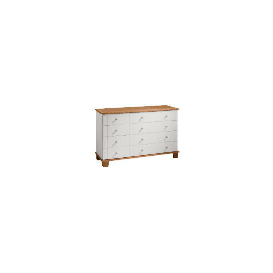 Apsley 4 + 4 drawer Chest, White Painted and Pine