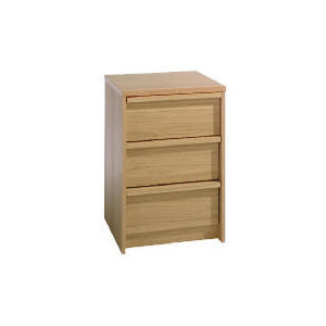 Photo of Santona 3 Drawer Bedside Table, Oak Effect Furniture