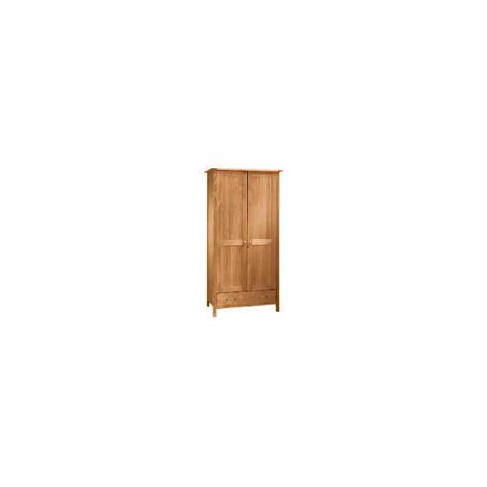 Hamilton 2 Door 1 Drawer Wardrobe, Oak