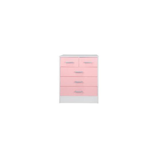 Sydney 3+2 drawer Chest, Pink