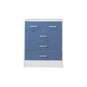 Photo of Sydney 3+2 Drawer Chest, Blue Furniture