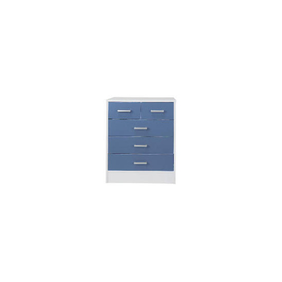 Sydney 3+2 drawer Chest, Blue