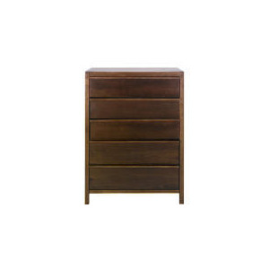 Photo of Hanoi 5 Drawer Chest, Walnut Effect Furniture