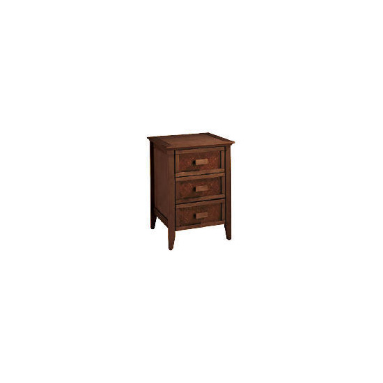 Belize Bedside Table, dark finish