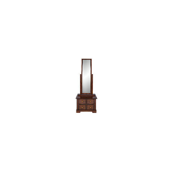 Finest Malabar Cheval mirror, Dark stain
