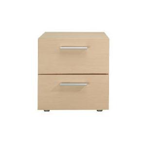 Photo of Havana 2 Drawer Bedside Table, Maple Effect Furniture