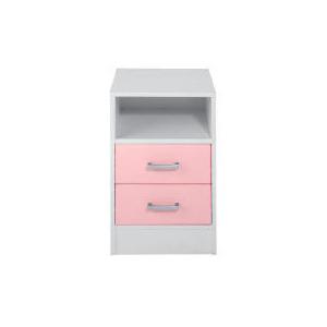 Photo of Sydney 2 Drawer Bedside Chest, Pink Furniture