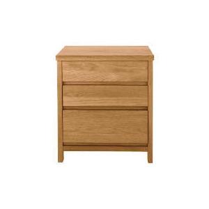 Photo of Monzora 3 Drawer Bedside Chest, Oak Furniture