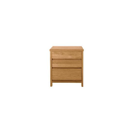 Monzora 3 drawer Bedside Chest, Oak