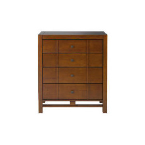 Photo of Bento 4 Drawer Chest, Walnut Finish Furniture