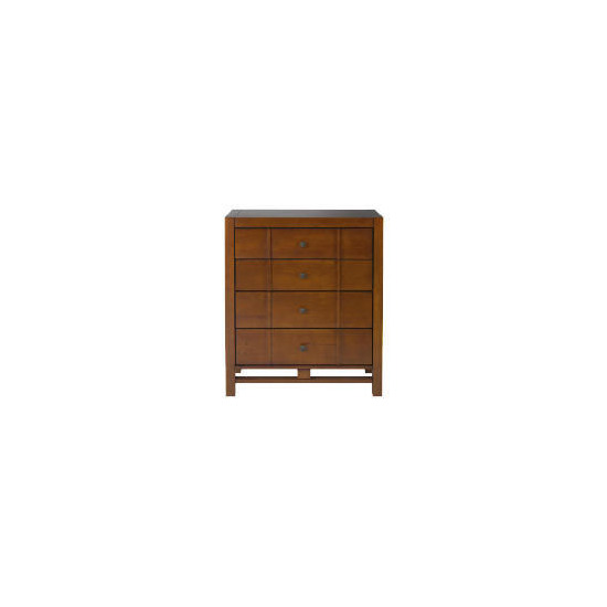 Bento 4 drawer Chest, Walnut finish