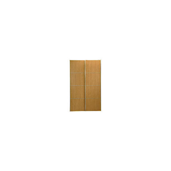 Havana 2 door sliding Wardrobe, Oak effect