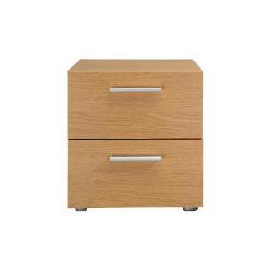 Photo of Havana 2 Drawer Bedside Table, Oak Effect Furniture
