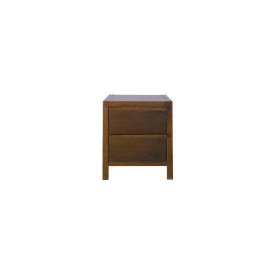 Hanoi 2 drawer Bedside Chest, Walnut effect